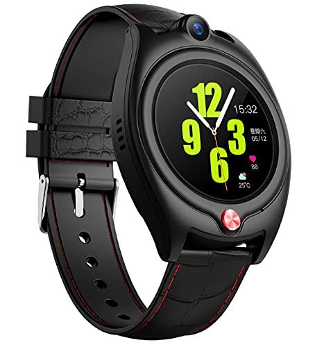 FVIWSJ Reloj Inteligente para Personas Mayores, GPS, Reloj Inteligente, rastreador de Ejercicios con Monitor de frecuencia cardíaca y sueño, Reloj Deportivo con IP67, Resistente al Agua