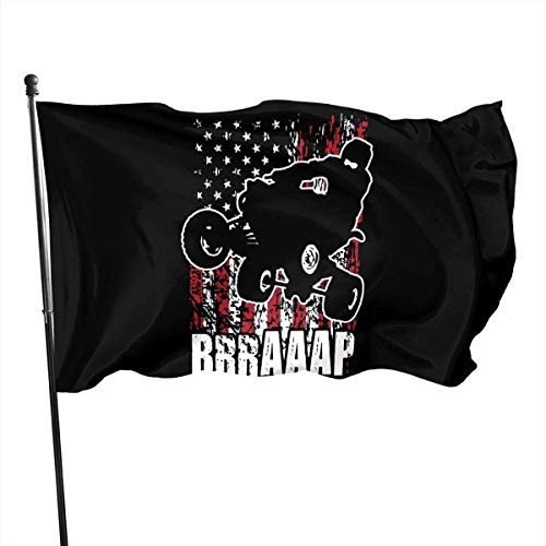Eriesy Fahne/Flagge ATV Quad USA Off-Road Garden Flag Outdoor Flag Polyester Banner Flag with Grommets Outdoor Decorative Flag 3 X 5 Ft