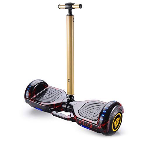 GEQWE Hover Board 7 '' Self Balance Scooter Eléctrico con Control Remoto Inalámbrico Y Pasamanos De Seguridad De Longitud Ajustable con Bluetooth+ Un Conjunto De Equipo De Protección