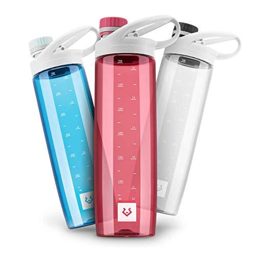 Alphatrail Botella Agua Tritan Luke 750ml Rojo I 100% Prueba de Fugas I sin BPA & Ecológicamente I Seguro Lavavajillas I para el ácido de Carbono I para una óptima hidratación en la Naturaleza