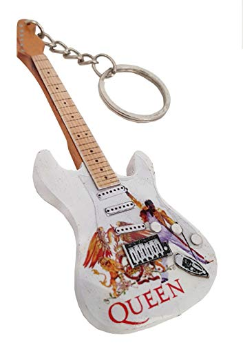 GUITARRA ELECTRICA THE QUEENS EGK-2362 EN LLAVERO DE MADERA REGALO MUSICAL - ROCKMUSIC