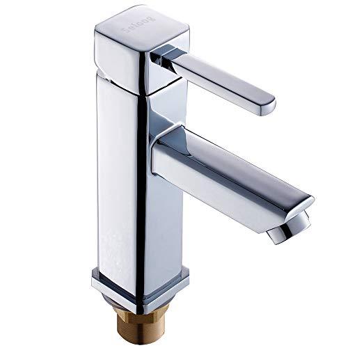 Grifo mezclador monomando de alta calidad para lavabo, monomando, latón cromado, para cuarto de baño, con mangueras de conexión