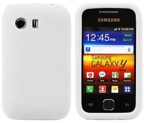 Luxburg®® In-Colour Design Schutzhülle für Samsung Galaxy Y GT-S5360 in Farbe Weiß, Hülle Case aus Silikon