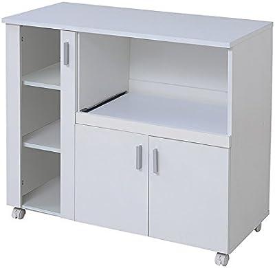 JKプラン キッチンカウンター キッチンボード 90 幅 コンセント 付き レンジ台 キッチン収納 食器棚 FAP-0017-WH