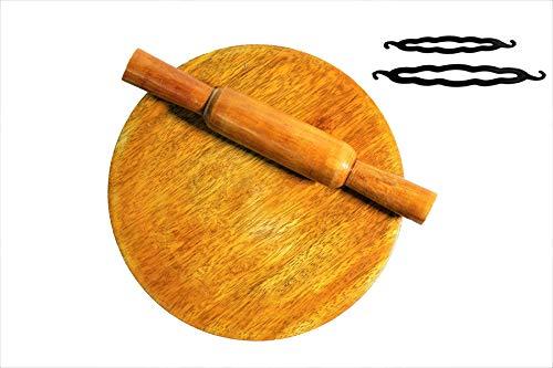 Wooden Chakla Belan / Roti Maker Toy for Kids +Free Magic Juda/Bun Maker