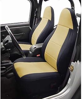 Coverking SPC214 Custom Fit Seat Cover for Jeep Wrangler JK 2-Door - (Neoprene, Black/Tan)