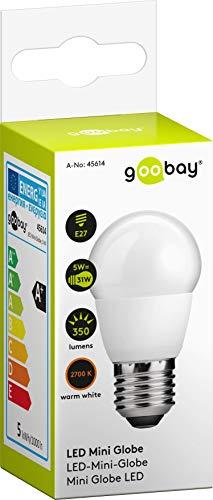 goobay Calendario Bombilla LED Mini Esfera E27Excelencia 2700K