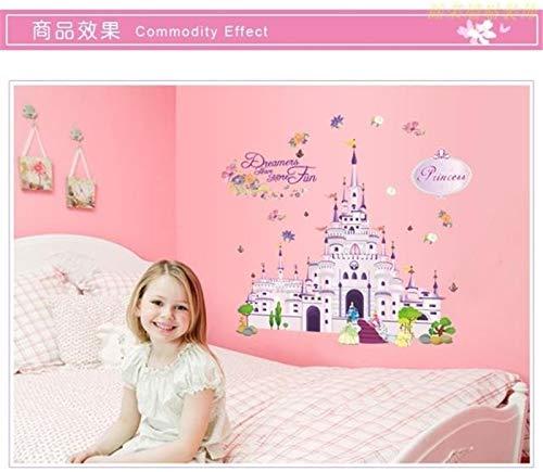 Princesse Dream Castle Stickers Muraux Vinyle Decal Fille Chambre Pépinière Papier Peint Affiche Murale Art 50X70cm
