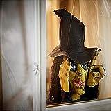 Halloween Deko Garten, Horror Hexe Ghost Gartenstatuen für Außen groß Gartendeko, hexen Gartendekoration im Freien, Spukhaus, Party, Gruselige Guckhexe Halloween Horror Schreck Spielzeug