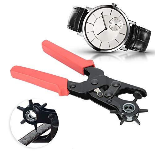 2 / 2.5 / 3 / 3.5 / 4 / 4.5mm Correa de reloj, AccesoriosHerramientasPinzas de perforación de cinturón de cuero Herramienta de perforación de cinturón de abrazadera de gancho