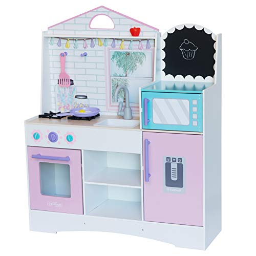 KidKraft 10119 Spielküche Dreamy Delights aus Holz - Pink mit Zubehör