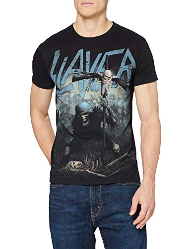 Collector's Mine Slayer-Soldier Cross - T-shirt - Homme - Noir (Schwarz) - XX-Large (Taille fabricant: S)