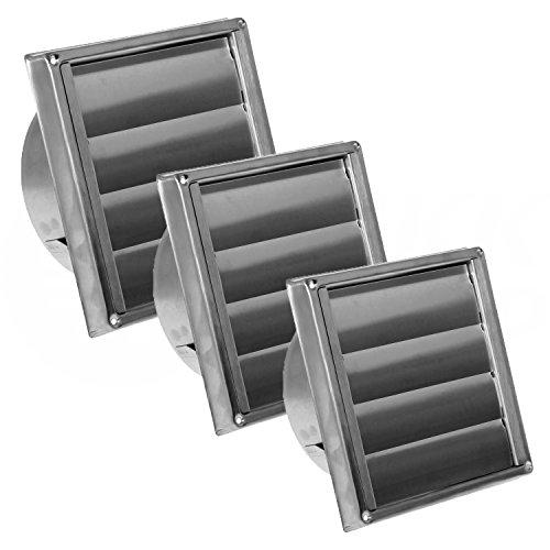 MKK - 10798 - roestvrijstalen afvoerkap ventilatierooster voor buiten, zuurbestendig voor afvoersystemen Ø 150 mm Roestvrij stalen rooster met lamellen.