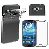 ebestStar - Funda Compatible con Samsung Grand Plus Galaxy GT-i9060I, Grand Lite Carcasa Silicona, Protección Claro Ultra Slim, Transparente + Cristal Templado [Aparato: 143 x 77.1 x 9.6mm, 5.0'']