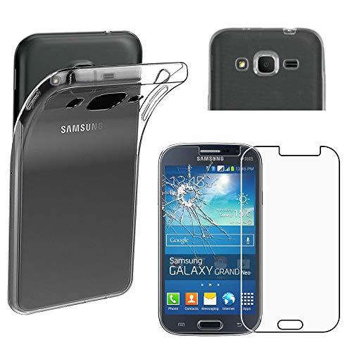 """ebestStar - Cover Compatibile con Samsung Grand Plus Galaxy GT-i9060I, Grand Lite Custodia Trasparente Silicone Morbida Sottile, Trasparente +Vetro Temperato [Apparecchio: 143x77.1x9.6mm 5.0""""]"""