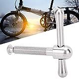 Gedourain Clip de bisagra de Bicicleta, aleación de Titanio Abrazadera de bisagra de Bicicleta Plegable para Bicicleta Plegable para Bicicletas Plegables Conectores de Cuadro Que Mantienen los Tubos