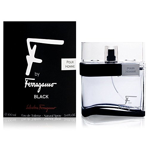 Price comparison product image F by Ferragamo Black By Salvatore Ferragamo For Men Eau De Toilette Natural Spray,  3.4 Fl Oz / 100 ml