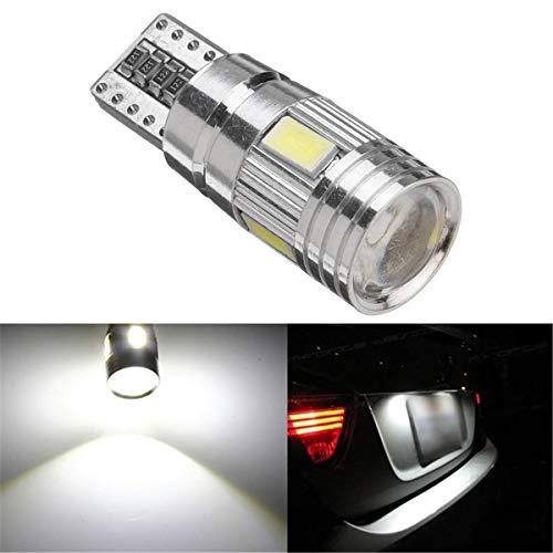 LED de cartel de coche LED T10 W5W Luz de placa Luz CANBUS CANBUS FREE FREE WEDGE Bombilla 12V 2.5W Blanco Hudson Studio