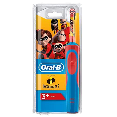 Oral-B Stages Power Kids - Cepillo Eléctrico Recargable para Niños con Personajes de Incredibles de Disney, 1 Mango, Cabezal de Recambio 1, Multicolor