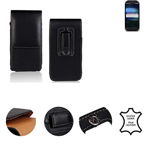 K-S-Trade® Holster Gürtel Tasche Für Panasonic Toughbook FZ-T1 Handy Hülle Leder Schwarz, 1x