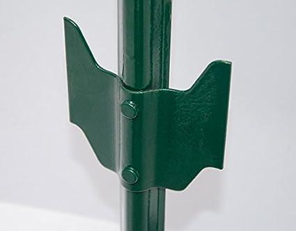 Niederberg Metall Zaunpfahl 105cm Zaunpfosten Pfahl Pfosten f/ür Maschendraht-Zaun