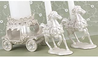 Fairytale Horse and Carriage Unity Candle Stand Set