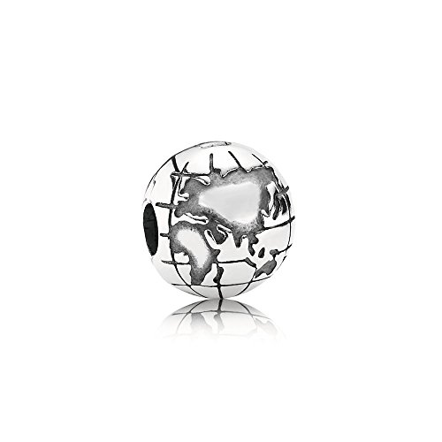 Pandora Moments Planet Erde Clip Weltkugel Sterling Silber 791182