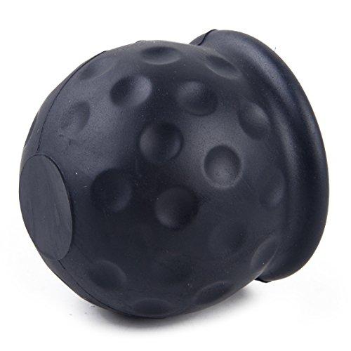 beler Voiture Caoutchouc Noir 50mm Boule de remorquage Towball Protector Cover Cap Hitch Caravan remorque