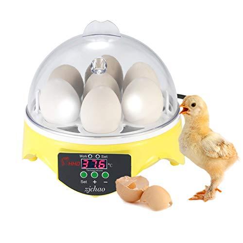 Incubadora automática para 7huevos con control de la temperatura digital para aves, pollos, patos y codornices, la incubación de los huevos de granja