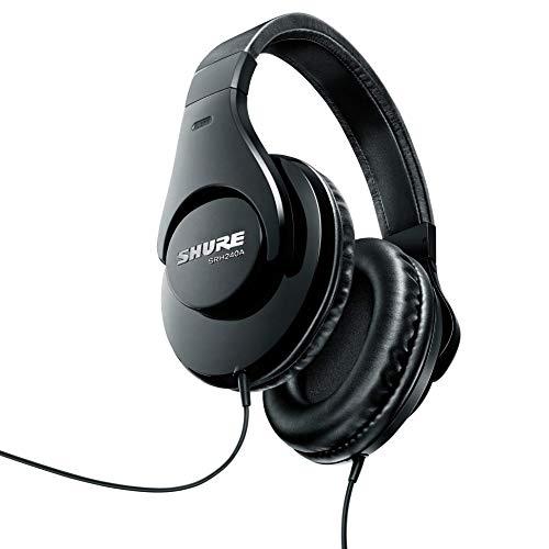 Shure SRH240A gesloten hoofdtelefoon/over-ear, zwart, ruisonderdrukkend, krachtige bassen en gedetailleerde hoge tonen