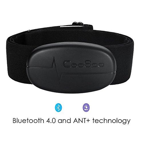 TAOPE Modalità Doppia Bluetooth & ANT + Cardiofrequenzimetro con Fascia Toracica, Nero per iPhone e Android