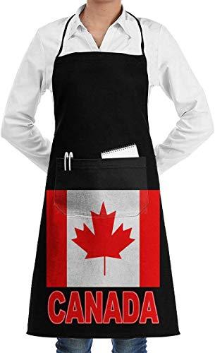 Drempad Mens Womens Latzschürze Der Stolz von Kanada Professionelle Polyester-Arbeitsschürze für Frauen