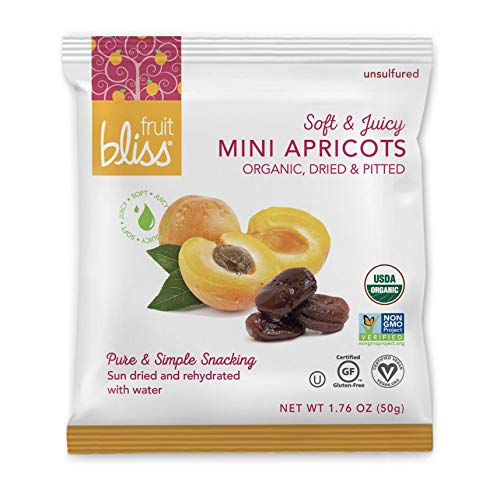 Unsulfured Turkish Apricots - Organic Apricots Dried Fruit Snacks - Healthy Snacks for On the Go & Post Workout Snacks - Non-GMO, Gluten-Free, Dried Apricot Fruit Snacks (12 Mini Pack – 1.76 oz. each