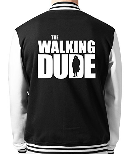 clothinx - The Walking Dude - Unisex College Jacke Schwarz, Größe XL