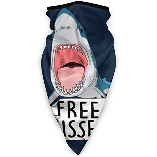 Emonye Dustproof Headband,Free Kisses Funny Shark Face Shield,Handsome Half Face Scarf for Sport Women&Men,24x52cm