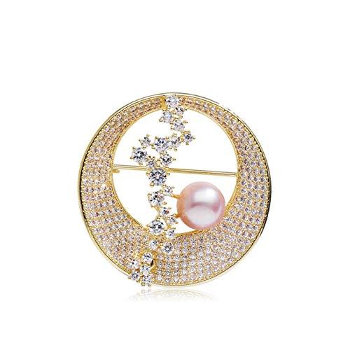 Donne Pin Spilla semplicità Spilla in Finto Spilla Perla Perla, Top Sciarpa Spilla, for Abbigliamento da Donna Casa Party di Nozze (Oro/Argento) Spille (Color : A)