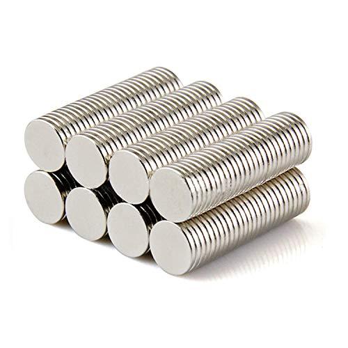 Yizhet 50 Piezas Imanes de Nevera de Cilindro de neodimio 8mm x 1mm Imanes de Disco de Tierra RARA para artesanías, Manualidades, Hobbies y organización de oficinas (8 * 1 mm)