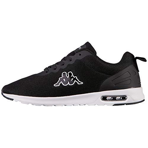 Kappa Damen Classy Sneaker, Schwarz (Black/White 1110), 38 EU