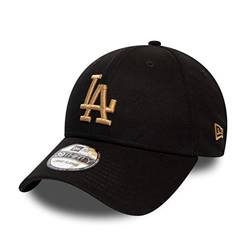 A NEW ERA Gorra 39THIRTY MLB League Essential L.A. Dodgers Negro-Dorado -...