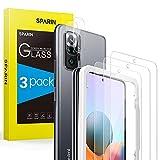 Bildschirmschutzfolie SPARIN Panzerglas Kompatibel mit Xiaomi Redmi Note 10 Pro mit Kamera Folie, [3+2 Stück] Schutzfolie, 9H-Festigkeitglas