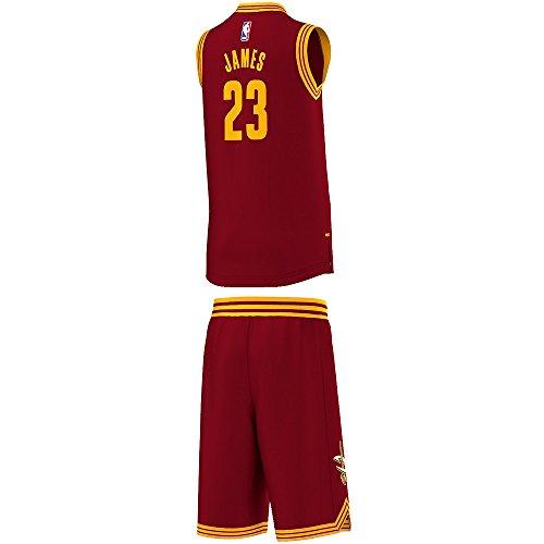 Adidas Maglia+Pantaloncino Basket NBA Ac4573 Cleveland Cavaliers 23 Lebron James (15-16)