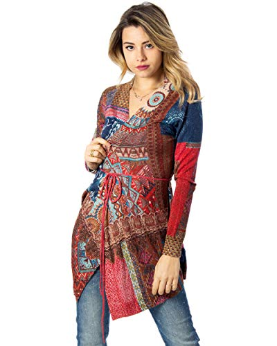 Desigual Cardigan Damen JERS Sikkim 20swjf99 xs rot