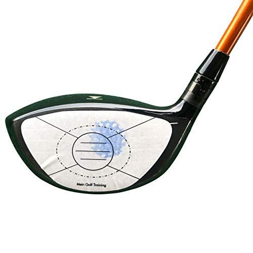 Golf Impact Tape zur Analyse des Treffens im Sweetspot |Abziehbare Aufkleber für den Schlägerkopf |Face, Target, Birdie Tape |Optimierte Form für den Driver (40)
