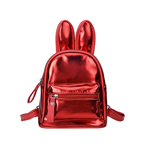 Price comparison product image Malleable Children Cute Colorful Backpack Little Girls Fashion Rabbit Ear Casual Backpack