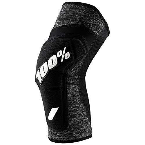 Ride100percent RIDECAMP Knee Guard Grey Heather/Black, Unisex Erwachsene, Unisex-Erwachsene, 100%, Grau und Schwarz, M