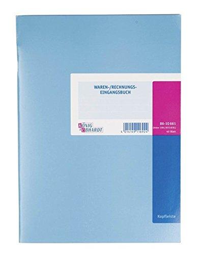 König & Ebhardt 8610661 Geschäftsbuch / Waren-und Rechnungs-Eingangsbuch (A4, mit Kopfleiste, 6 Aufteilungsspalten, 80g/m², 40 Blatt Drahtheftung)