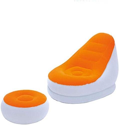 MXDCY Sofa Gonflable, Sofa Se Pliant d'appartement de Divan-lit Paresseux Gonflable de Double Usage de PVC de PVC avec des nageoires