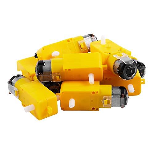 TOOGOO 10 Piezas Auto Inteligente TT Motor Lanzamiento Motor De Engranaje De Coche Inteligente para Arduino