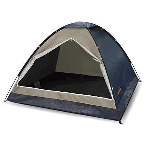 ハック 組立式 ファミリー ドームテント テント 3人用 4人用 フルクローズ メッシュ 組み立て簡単 収納袋付き ファミリーテント アウトドア キャンプ ブルー 本体組立時:w200×d200×h130cm パッケージ:w64×d12.5×h12.5cm