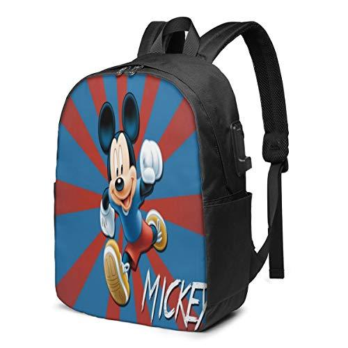 Caelpley Zaino per Il Tempo Libero per Ragazze e Ragazzi, Grande Zaino per Laptop, Zaino da Viaggio Impermeabile per Uomini e Donne, Disney Mickey Mouse Radiale Rosso E Blu